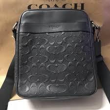 authentic coach charles flight bag in signature crossgrain leather f11741 black