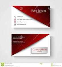 Vector - Of 54496744 Template Stock Card With White Illustration Business Design Red Text Background