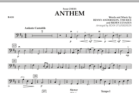 Anthem (From Chess) - Score & Parts Sheet Music By Benny Andersson ...