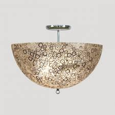 wonderful lighting accessories with lotus capiz chandelier wonderful image of modern ceiling dome light brown