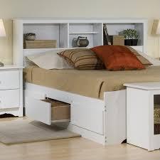 White Full Wood Platform Storage Bed 4 Piece Bedroom Set - WBD-5600-4PKG