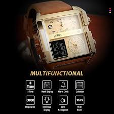 <b>SKMEI Men's</b> Digital Sports Watch, <b>LED</b> Square Large Face Analog ...