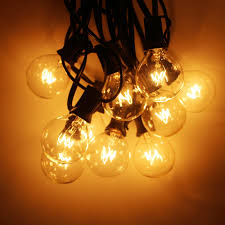 Fairy Lights Taobao Us 17 75 31 Off Warm White 25 Clear Bulbs G40 Fairy Lights Globe Party Christmas String Light For Garden Tree Street Wedding Outdoor Indoor Dec In