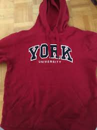york university hoodie. york u hoodie red, size medium m/m [womens\u0027] york university