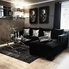 living room ideas with black wallpaper. i like the black velvet couch and mirrored/silver decor living room ideas with wallpaper