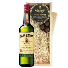 jamesons irish whiskey 70cl and whisky charbonnel truffles chocolate box