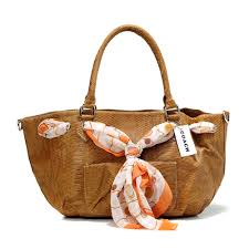 Coach Embossed Scarf Medium Brown Totes DFJ