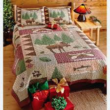 cabin quilt bedding cabin comforters and quilts cabin quilt bedding sets moose lodge full queen or