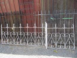 wrought iron fence victorian. White Painted Wrought Fence Design For Exterior Home Come With Iron Material And Also Black Victorian