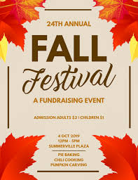 Fall Festival Flier Fall Festival Fundraising Flyer Template Postermywall