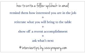 Best Ideas Of How To Follow Up On An Interview Enom Warb In Sample