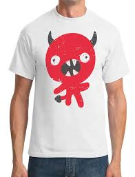 cute devil cartoon funny mens t shirt