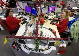 christmas office decor. christmas decoration office out of this world cubicle decorations cubicles decor s