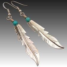 new sterling silver feather earrings muyifabu ruby lane di48