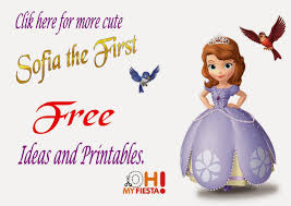 sofia the first printable invitations or photo frames is sofia the first printables