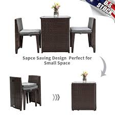 fdw patio furniture set outdoor wicker