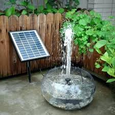 solar panel floating fountain water pump kit waterfall