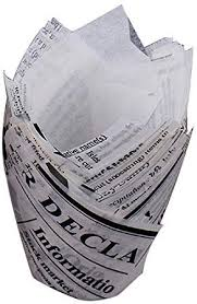 Gorge-buy 50PCS Newspaper Style Christmas Tulip ... - Amazon.com