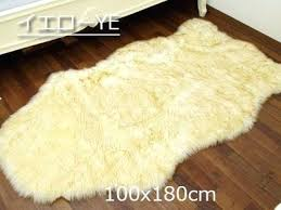 fake mouton rag floor mat fur rug soft and fluffy white faux cleaning faux fur rug