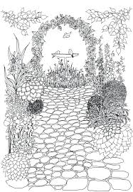 Garden Coloring Pages Flower Garden Coloring Page Printable Crafty