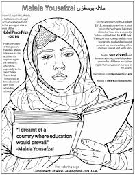 This page has a picture of dogs, cats, children a jet and horse and more. Coloring Books Malala Yousafzai Free Online Coloring Page