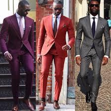 6 Colours Classic Style Men's Slim Fit Suits Vintage Two Buttons Notch  Lapel Mens Blazer wedding