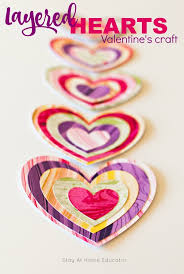 layered hearts valentine s craft for