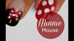 Disney Minnie Mouse nail art tutorial - YouTube