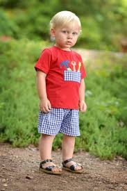 Little Boy Applique Designs Boys Red Toolbox Applique Shorts Set Is Adorable For Any