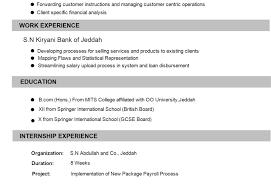 Resume Format For Finance Jobs Cv For Bank Job Cv Format Banking Finance Resume Sample 11