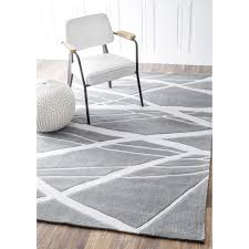 nuLOOM Handmade Pino Geometric Grey Modern Byways Rug (5' x 8') - Free  Shipping Today - Overstock.com - 13419215