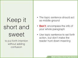 how to write a good topic sentence sample topic sentences  image titled write a good topic sentence step 7 jpeg