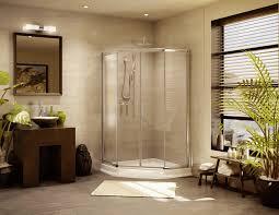 master bath vanity ideas small round wall mounted mirror smooth white marble floor tile toiletries tray