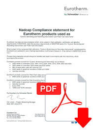working ams2750e and ams2750d nadcap compliance statement for eurotherm products