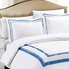 california design den hotel park luxe duvet cover set cotton white spa full queen 3 piece com