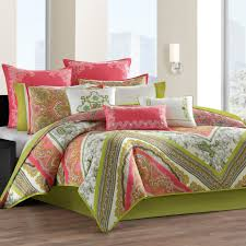 c colored bedding 4 pc lime and c comforter set