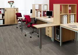 modern office flooring. teak fusion cork floor monitor on desk modern office flooring