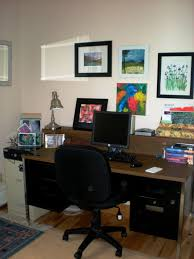 cozy home office. office:simple wooden home office table combine swivel chair also framed wall art plus black cozy d