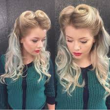what s old is new again v is for victory rolls by manderyo hotonbeauty vine hairstyle blonde hair color