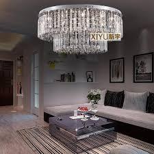 chandelier for low ceiling living room unbelievable 80 33 cm crystal lamp modern voltage lights round