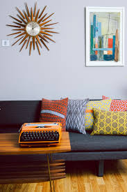 mid century modern furniture design ideas. mid-century modern decor with funky knit pillows by seven gauge studios \u2022 the lifestyle mid century furniture design ideas a