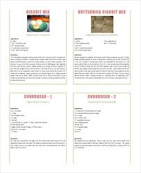 Recipe Book Templates 5 Free Printable Word Pdf Design