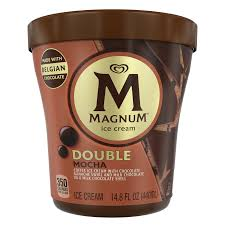 For perspective, that's a little more than ¼ cup of brewed coffee. Milk Chocolate Mocha Ice Cream Tub Magnum