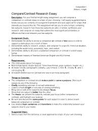 compare contrast assignment sheet essays thesis