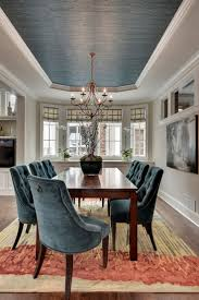 Gorgeous dining room ~ ceiling paint color to match the chairs. House of  Turquoise: Great Neighborhood Homes. love the chairs love the ceiling hate  the ...
