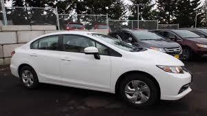 honda civic 2014 white. Wonderful 2014 2014 Honda Civic LX  Taffeta White EE206958 Seattle Renton  YouTube To U