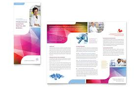 Trifold Template For Word Pharmacy School Tri Fold Brochure Template Word Publisher