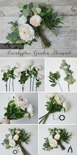 garden bouquet. Cream White Eucalyptus Bouquet Garden P