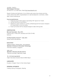 User Experience Resume Examples