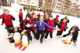 youngsters meet rugby star at grand opening of ice rink the news
